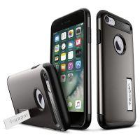 Чехол Spigen Slim Armor для iPhone 7 темный металлик