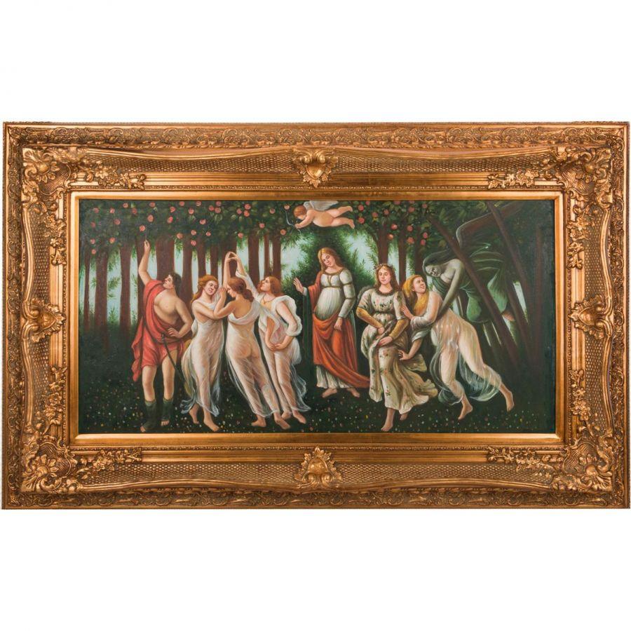Картина масляная на холсте 122x60 см., багет 162x101 см.