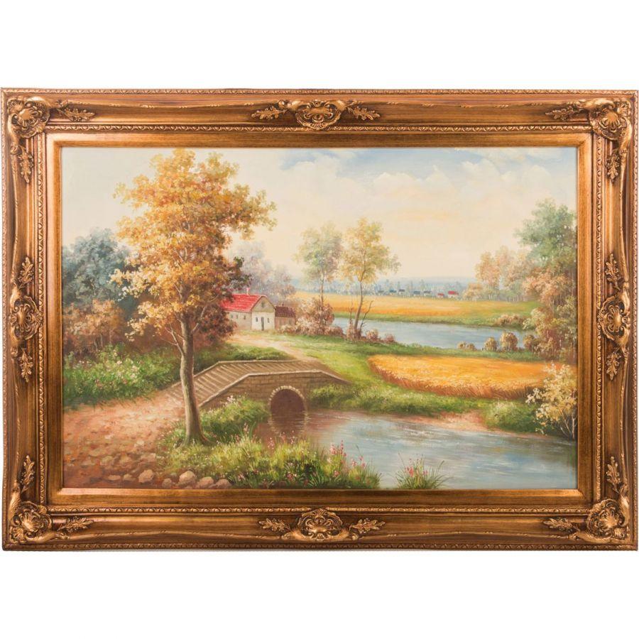 Картина масляная на холсте 90x60 см., багет 110x80 см.