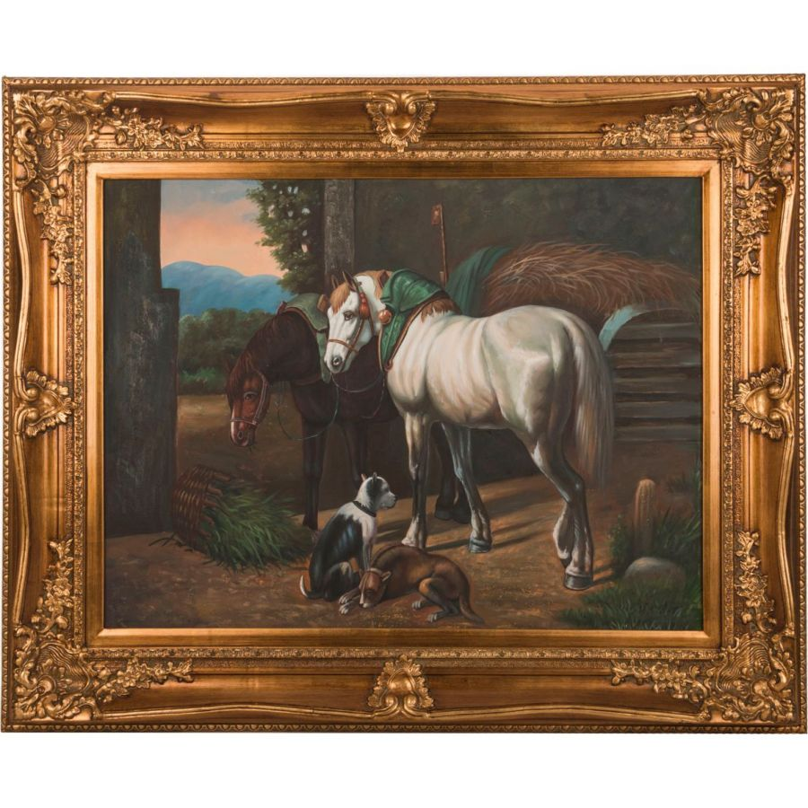 Картина масляная на холсте 100x74 см., багет 134x108 см.