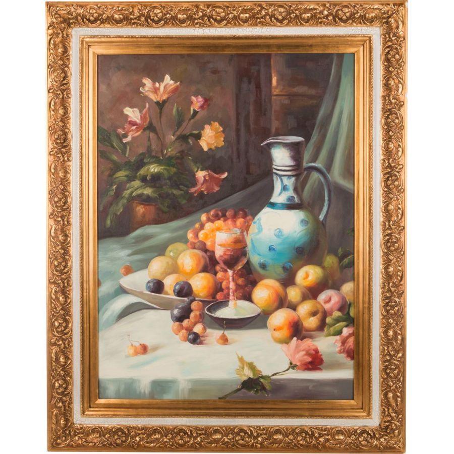 Картина масляная на холсте 75x101 см., багет 102x127 см.