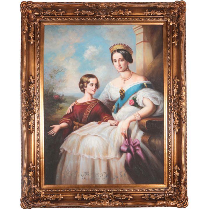 Картина масляная 75x100 см., багет 103x128 см.