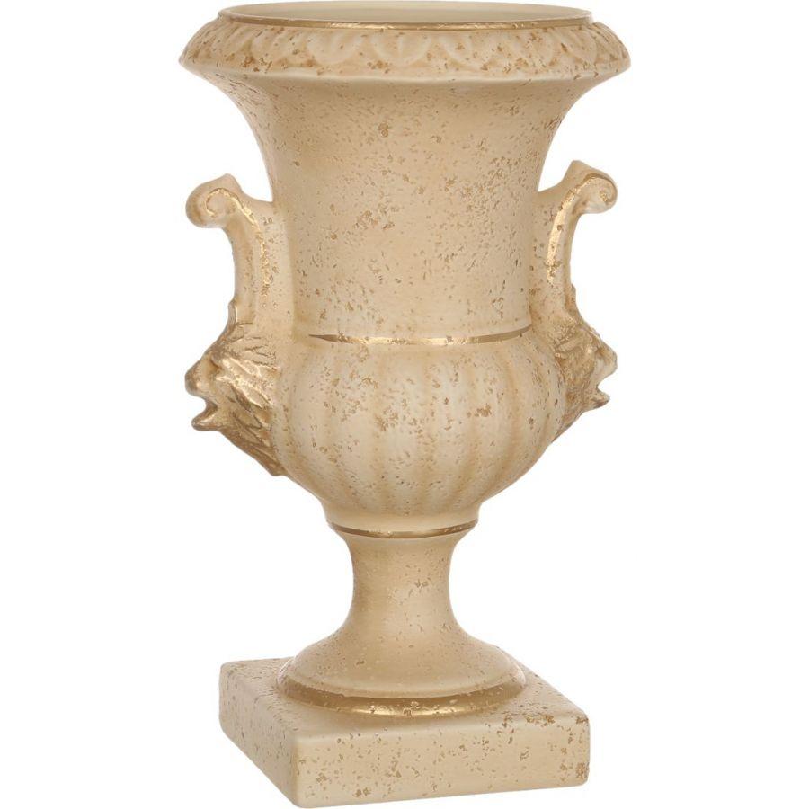 """Кубок со львами """"Романо"""", старинный персиковый, h=37 см."""