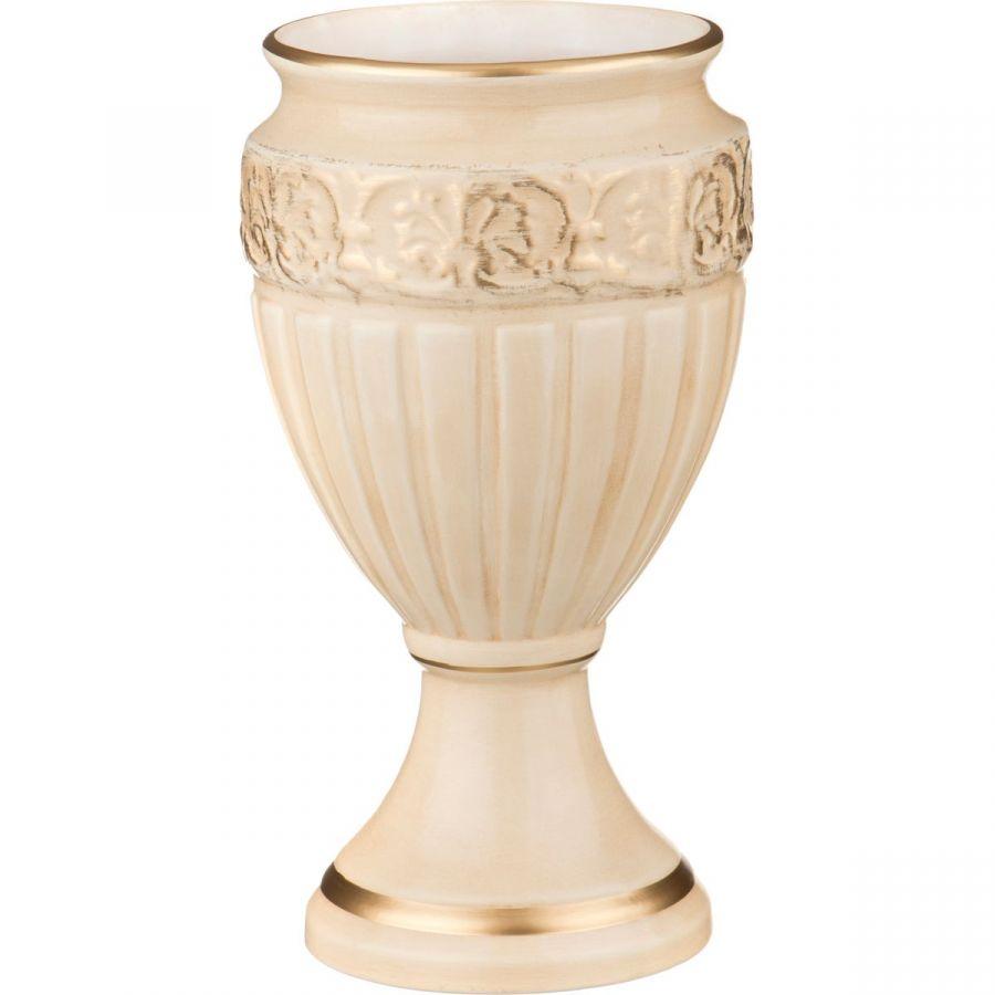 Кубок круглый кретенс персиковый глянец, h=31 см.