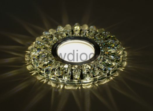 Светильник точечный OREOL Crystal 7606B 115/60mm под лампу MR16 Белый