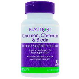 Биотин с корицей и хромом от Natrol 60 кап