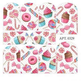 Слайдер-дизайн для ногтей № 0329