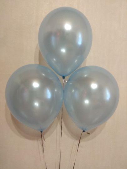 Голубой металлик шар с гелием