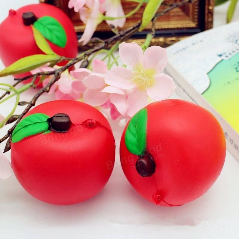 Купить Сквиши брелок яблоко недорого с доставкой