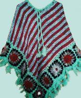 Теплое вязаное пончо из Непала, купить в Санкт-Петербурге
