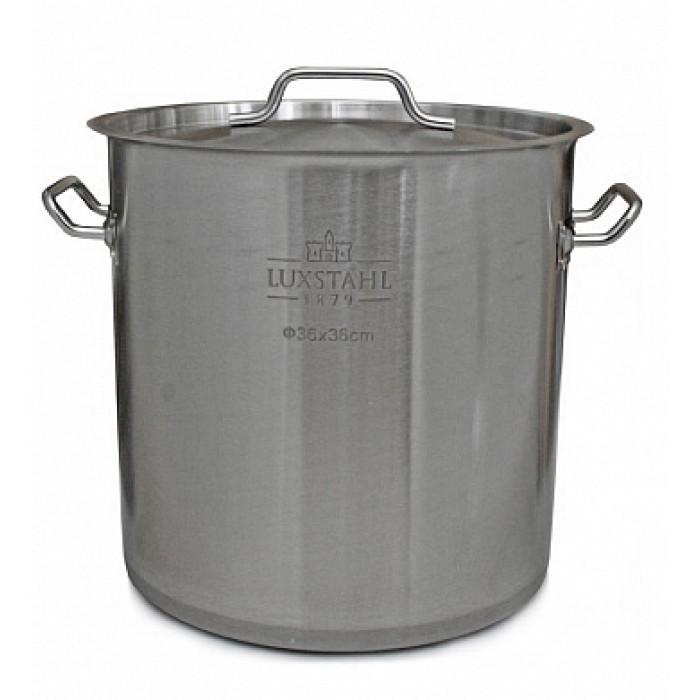 Котел профессиональный Люкссталь с крышкой, 50 литров