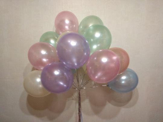 Ассорти шаров нежное металлик с гелием