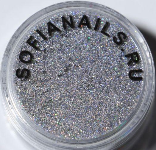 Блестки П 88 Германия Мультик серебро светлое (супер мелкий помол)