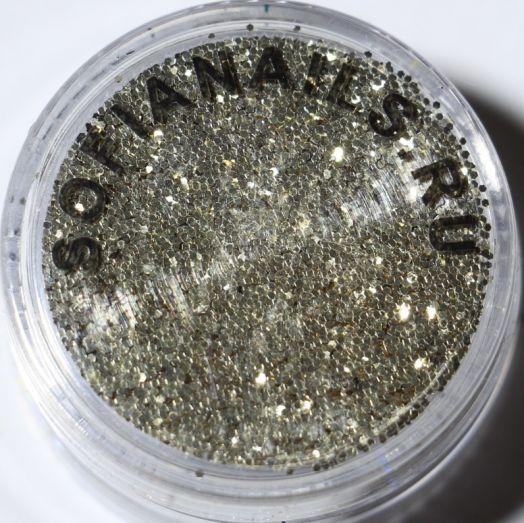 Блестки П114 зеркальный блеск (эффект чешуи) Германия Очень светлое золото (крупный помол)