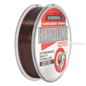 Леска Chimera Hardline Fluorocarbon Coating Chameleon Cherry Blood 100 м