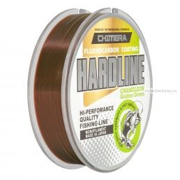 Леска Chimera Hardline Fluorocarbon Coating Chameleon Golden Green 100 м