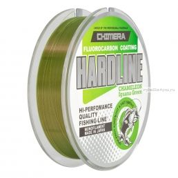 Леска Chimera Hardline Fluorocarbon Coating Chameleon Iguana Green 100 м