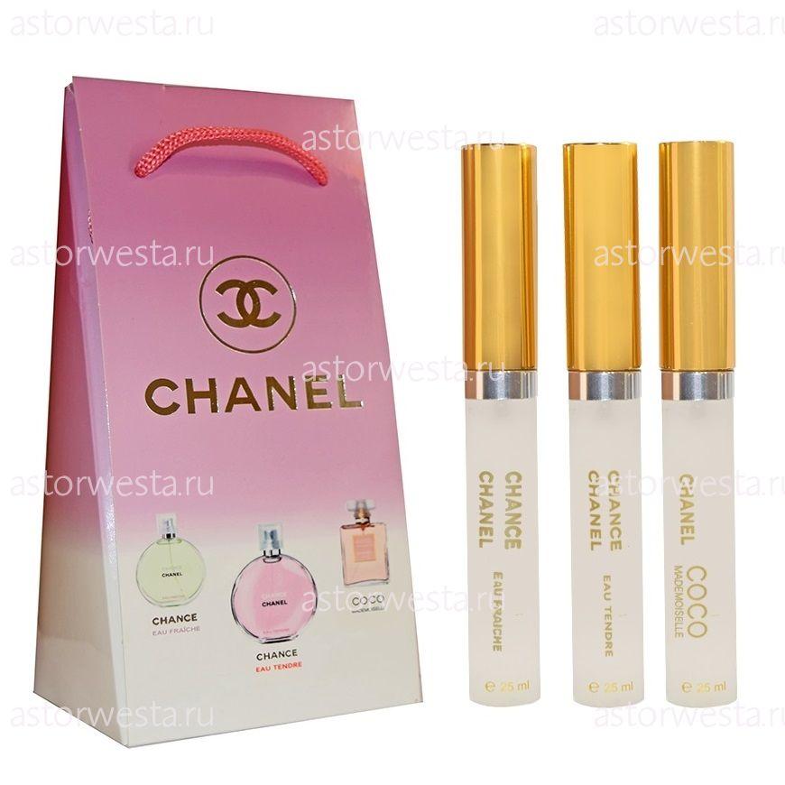 Подарочный набор Chanel for women, 3х25 ml