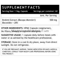 Брами в капсулах 500мг (бакосиды > 20%) Инлайф | INLIFE Brahmi Extract (Bacosides>20%) Capsules