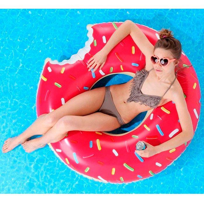 """Надувной круг """"Клубничный пончик"""" (диаметр 90 см)"""