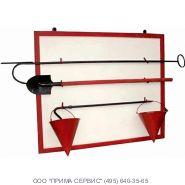 Щит пожарный металлический открытого типа (с комплектующими)