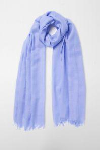 легкий тонкорунный экстра широкий шарф, цвет перванш (барвинок) , PERIWINKLE EXTRA FINE MERINO  100% шерсть мериноса,   плотность 2
