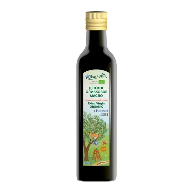 Флёр Альпин- масло Органик детское оливковое, 6 мес., 250 мл.