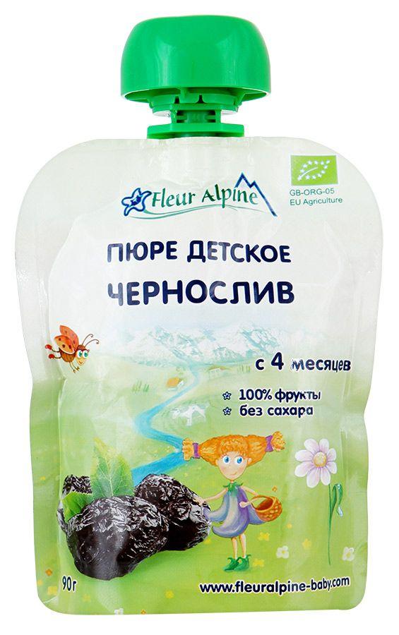 Флёр Альпин - пюре Органик чернослив с 4 мес., 90 г. мягкая упаковка