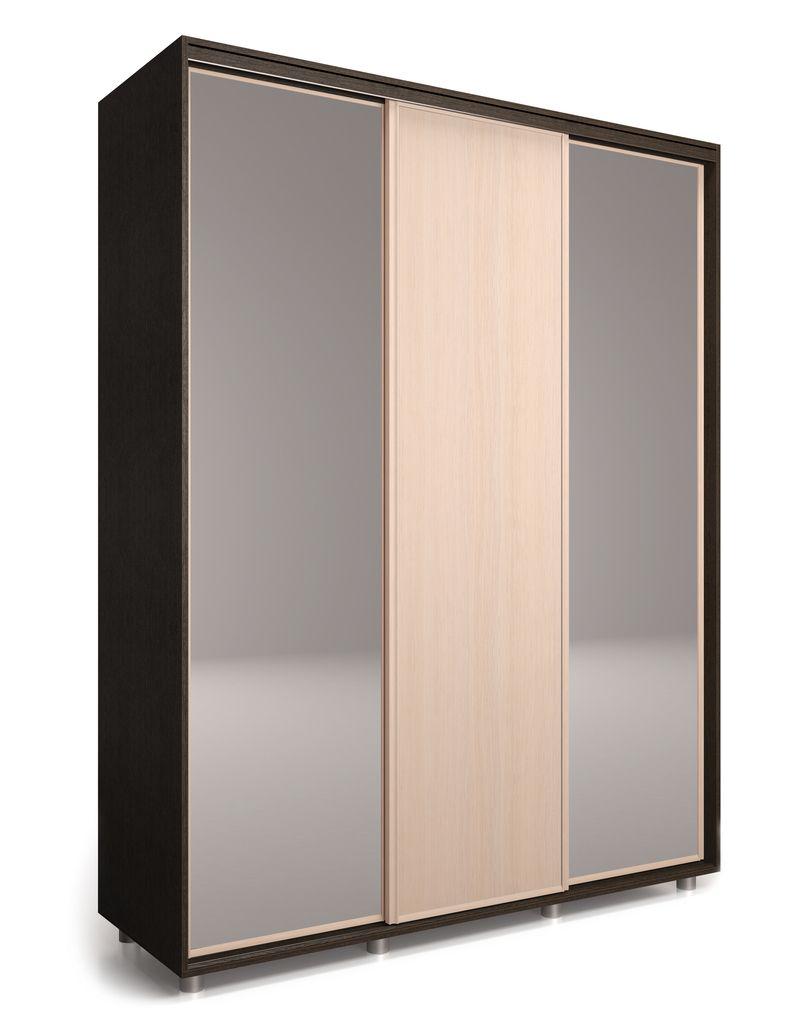 Шкаф-купе Удачный 2400 с 2-мя зеркалами