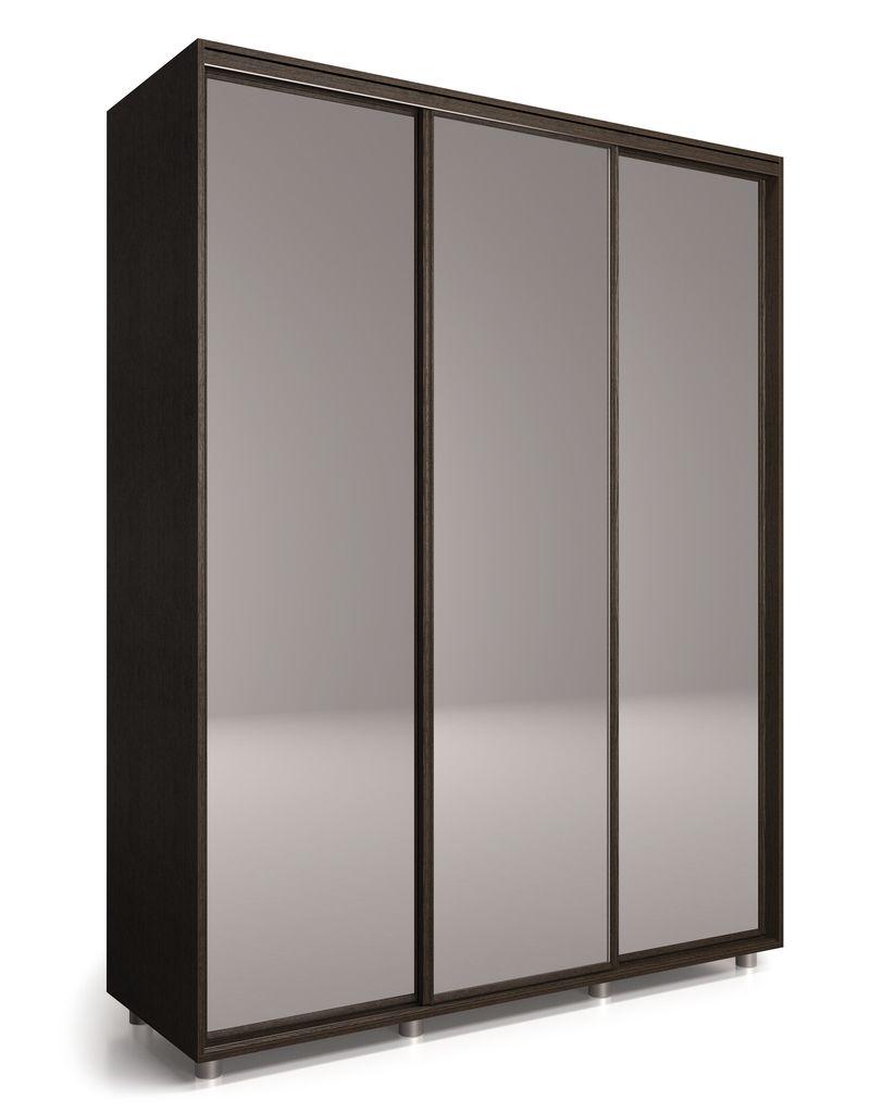 Шкаф-купе Удачный 2100 с 3-мя зеркалами