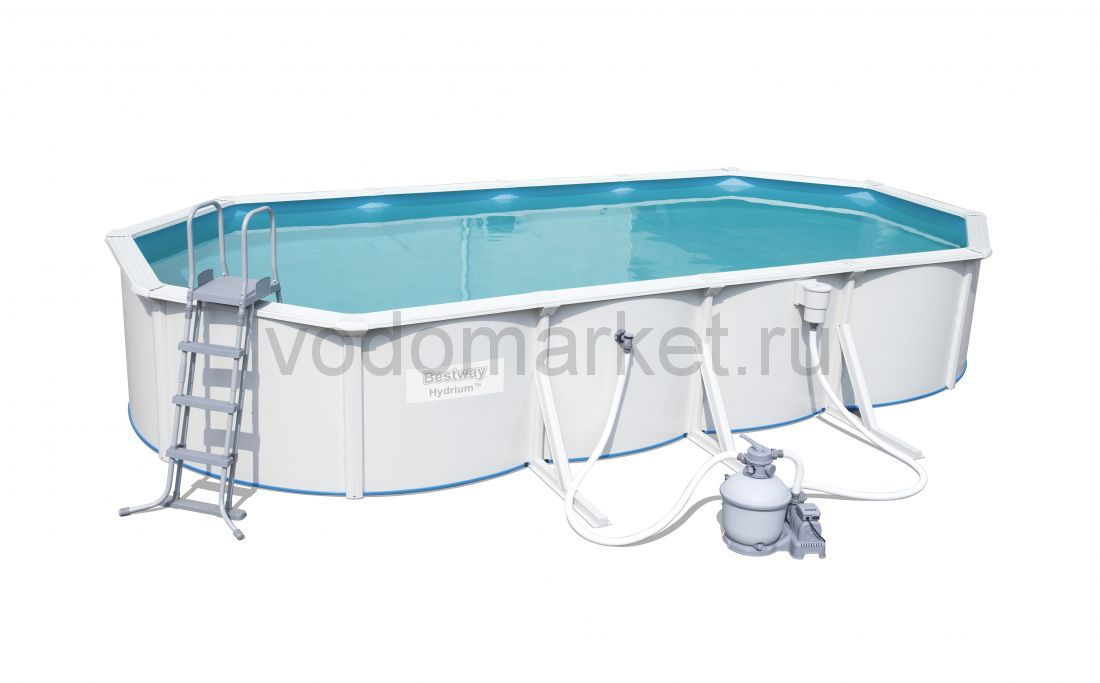 740х360x120 см (56604) Bestway Стальной овальный бассейн