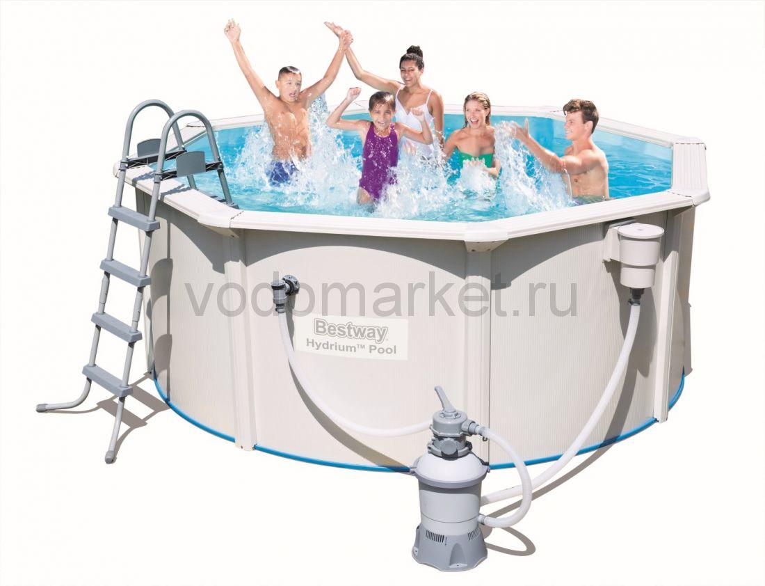 366х122 см (56288) Bestway Стальной круглый бассейн