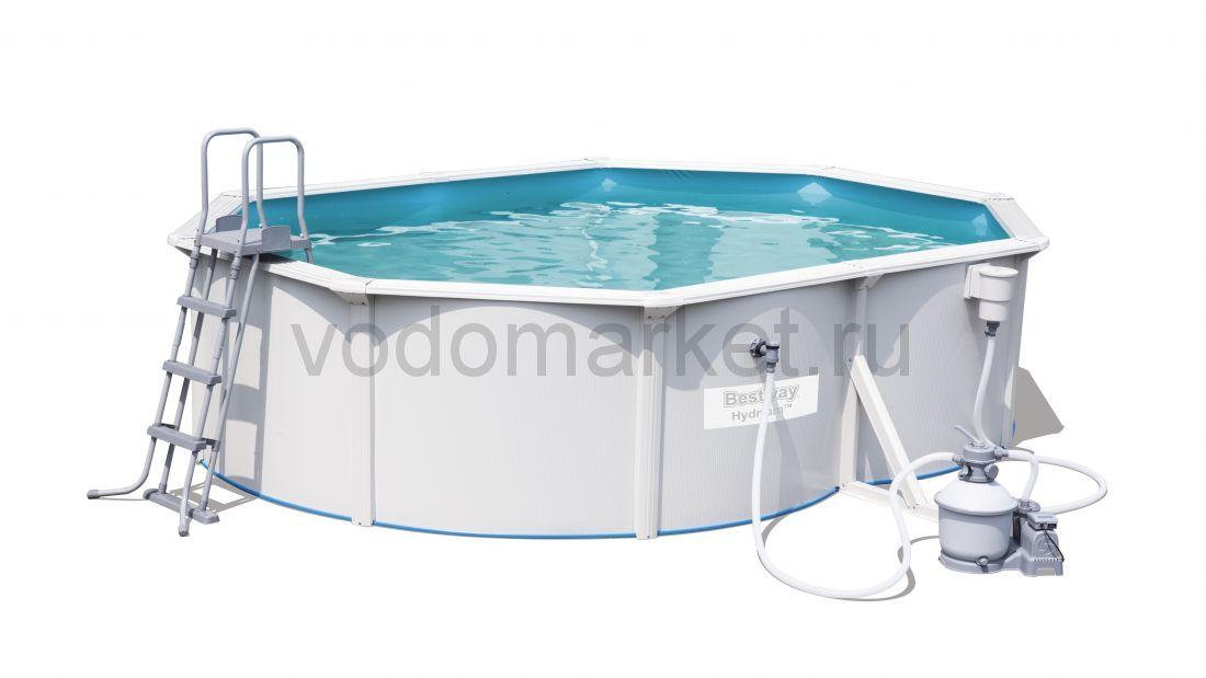500х360x120см (56586) Bestway Стальной овальный бассейн