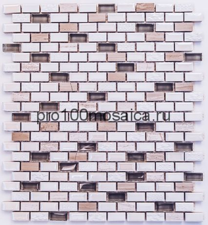 IDEAL Мозаика чип 12х25, 306*269*8 мм, (Bonaparte)