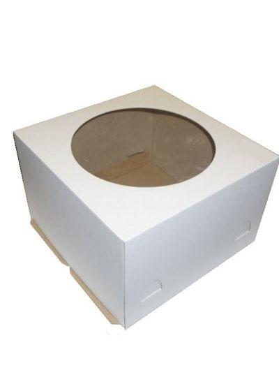 Коробка бел 260*260*180 с ОКНОМ