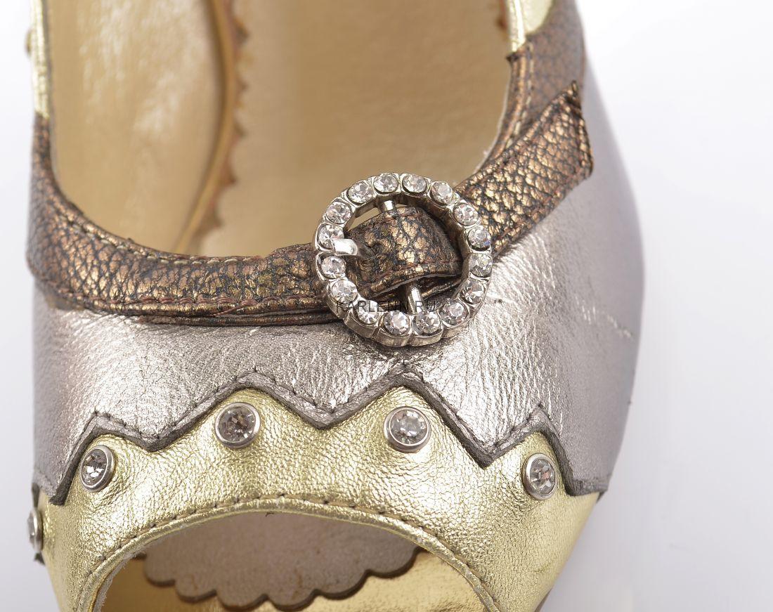 Туфли с открытым мысом Mativi (бронзово-серые)