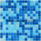 Aqua 150 (на сетке) стекло. Мозаика серия ECONOM,  размер, мм: 327*327*4
