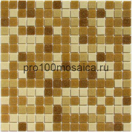 Aqua 350 (на сетке) стекло. Мозаика серия ECONOM,  размер, мм: 327*327*4