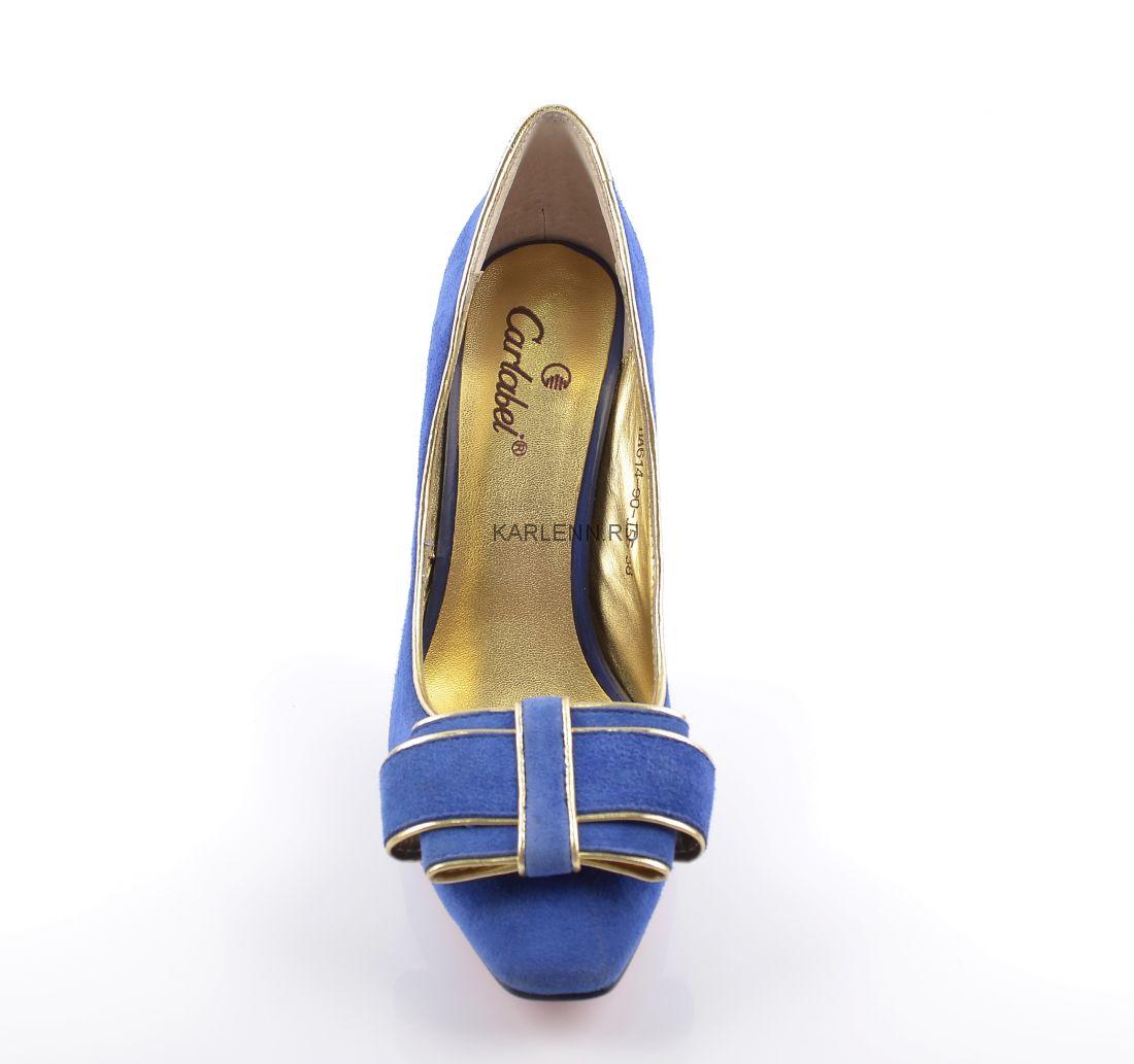 Туфли замшевые CARLABEI (насыщенный лазурит)