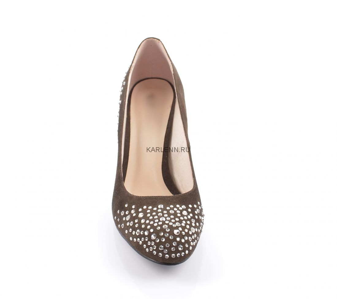 Туфли замшевые КС (коричневые)