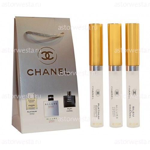 Подарочный набор Chanel for men, 3x25 ml (ПОД ЗАКАЗ)