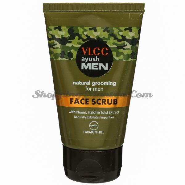 Скраб для лица для мужчин VLCC Ayush Men Face Scrub