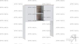 Шкаф настольный Ривьера ТД-241.15.11 (121х32х131)