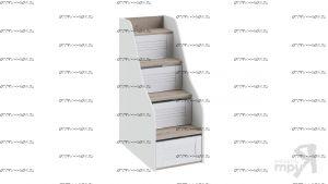 Лестница приставная для двухъярусной кровати Ривьера ТД-241.11.12 (48х84х121)