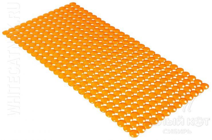 Антискользящий коврик для ванны Rondo 72 х 36 см оранжевый 0159
