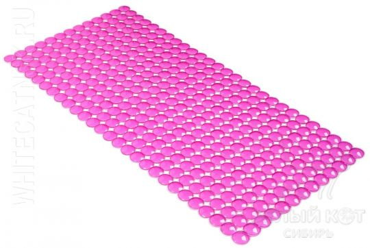 Антискользящий коврик для ванны Rondo розовый 72 х 36 см 0159