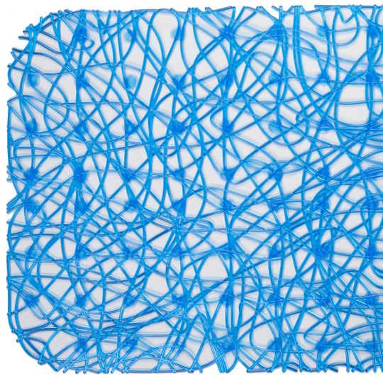 Антискользящий коврик для душа Lux голубой 52 х 52 см 0260