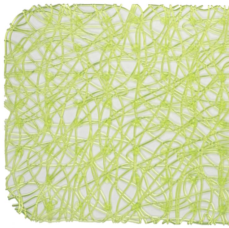 Антискользящий коврик для душа Lux 52 х 52 см зелёный 0260