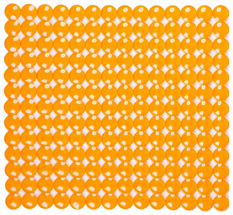 Антискользящий коврик для душа Rondo 52 х 52 см оранжевый 0160