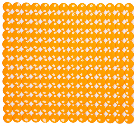 Антискользящий коврик для душа Rondo оранжевый 52 х 52 см 0160